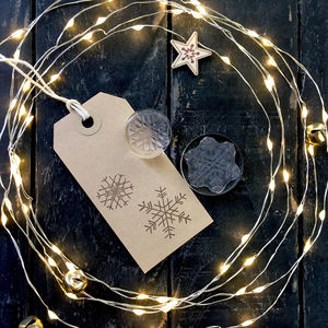 Set Of Two Snowflakes Crystal Clear Stamps - cards & wrap