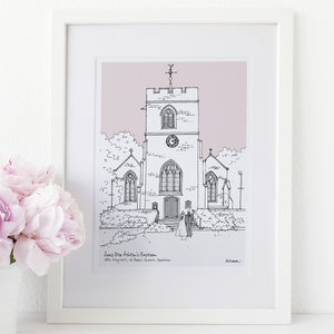 Personalised Wedding Or Christening Venue Portrait
