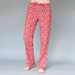 Pyjama Bottoms In Red Or Green Vine - lingerie & nightwear