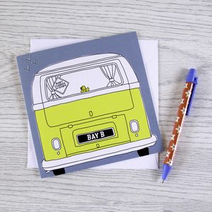 Campervan New Baby Card 'Baby Dubber'