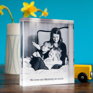 Personalised Mother's Day Photo Acrylic Block