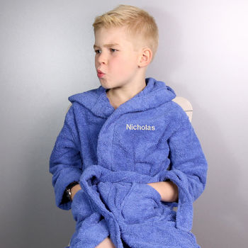 Personalised Boy's Hooded Dressing Gown
