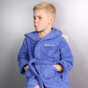 Personalised Boy's Hooded Dressing Gown - baby care