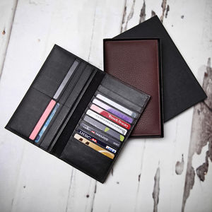 Personalised Men's Slim Leather Dress Wallet
