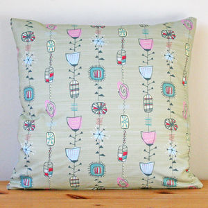 Atomic 1950s Pastel Handmade Cushion Cover