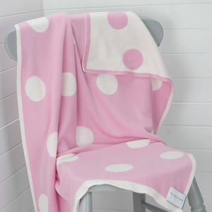 Pink Spotty Newborn Essential Baby Blanket - baby care