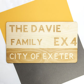 Personalised Wooden Street Sign