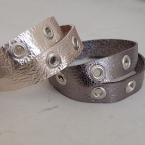 Leather Eyelet Wrap Bracelet - bracelets & bangles