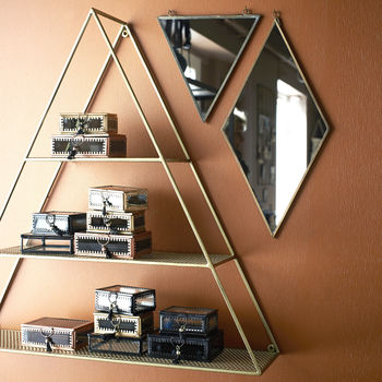 Gold Triangle Shelf