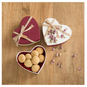 Heart Shape Shortbread Gift Box - cakes & sweet treats