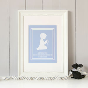 Personalised First Holy Communion Print Boy