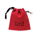 Red Dotty Bone Print Treat Pouch