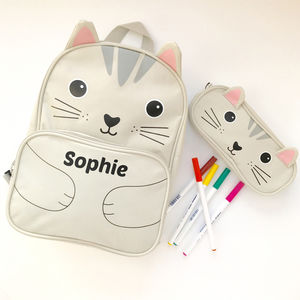 Personalised Cat Backpack - storage