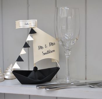 Personalised Place Card Sail Boat