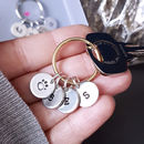Personalised Initial And Symbol Keyring