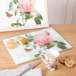 Kitsch Floral Chopping Board And Mug For The Kitchen - tableware