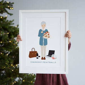 Personalised Granny Print - gifts for grandparents