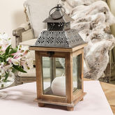 Personalised Ornate Candle Lantern Gift - garden