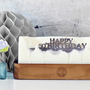 'Happy 50th Birthday' Hidden Message Candle - 50th birthday gifts