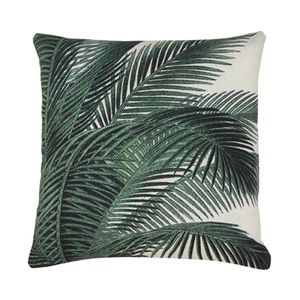 Cool Coconut Palm Print Cushion +Pad
