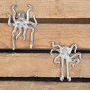 Nautical Wall Hooks, Choice Of Two Octopus Designs