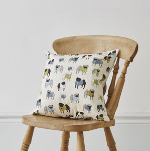 Pug Print Cushion - sale by category