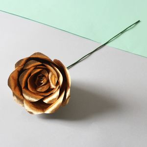 Gold Paper Rose - room decorations