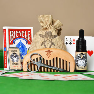 Hustler Beard Grooming Kit With Playing Cards