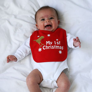 My First Christmas Bib - baby's first christmas