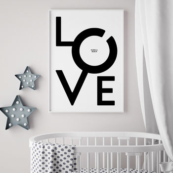 Personalised New Baby Love Print