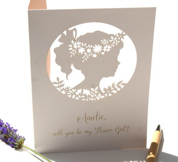 Personalised Flower Girl Card Boho Design