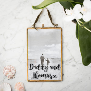 Personalised Dad Brass/Silver Photo Frame