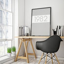 Framed Monochrome Personalised Typographic Year Print