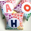 Rainbow Starburst Personalised Cushion