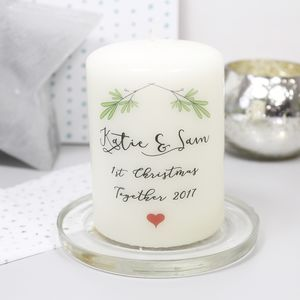 First Christmas Together Candle For Couples - candles & home fragrance
