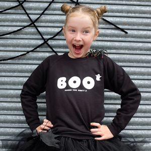 Children's Boo Halloween Sweatshirt