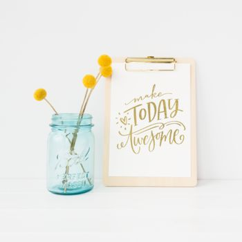 'Make Today Awesome' Foil Print Wall Art