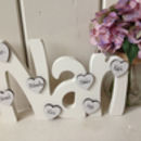 Nan Freestanding With Personalised Mini Hearts