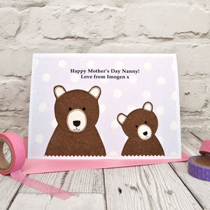 'Mummy Bear' Birthday Card / Mother's Day Card