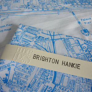 'Brighton Hankie' Map Handkerchief - secret santa gifts