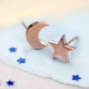 Moon Star Stud Earrings