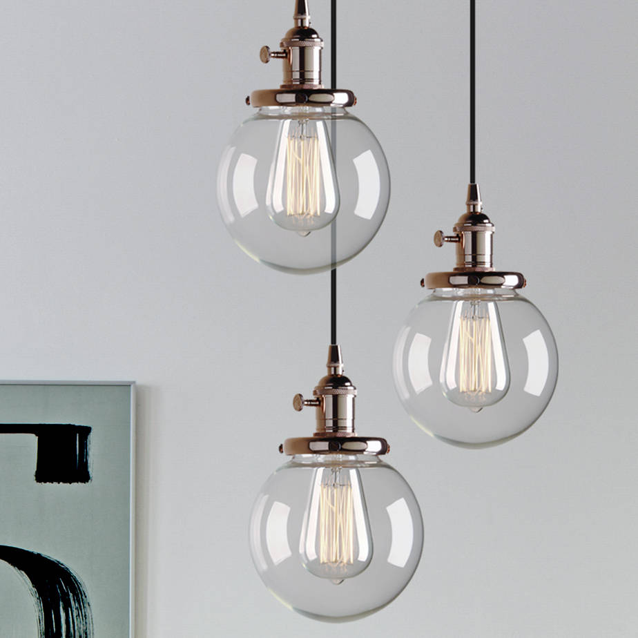 Three way contemporary ceiling pendant lighting by unique for Cool modern light fixtures