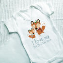 Personalised Winter Fox Sibling Vest