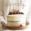 Seventy Wire Birthday Cake Topper