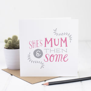 Mum Card With Brush Script