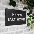 British Slate Classic House Sign Four Sizes Available
