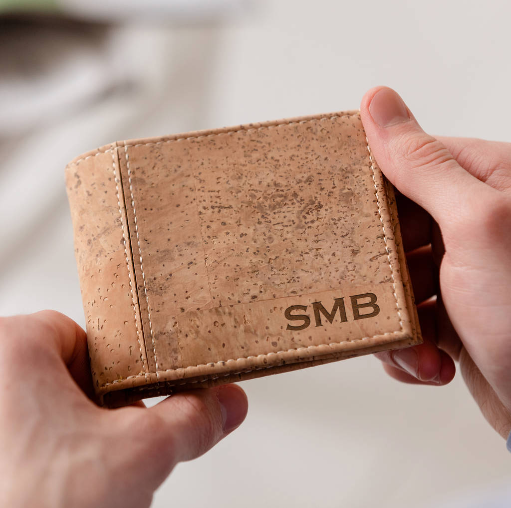 Personalised Vegan Cork Wallet For Men By Dust And Things