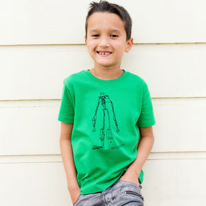 Child's Tshirt Printed With Their Drawing