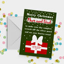 Personalised Scratch Off Surprise Christmas Card A5