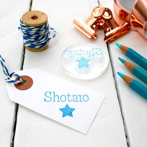 Personalised Child's Name Stamp Clear - finishing touches